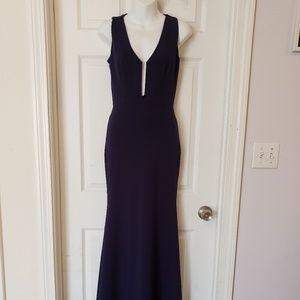 Women's Night Gown Dark Blue Size Small Tall